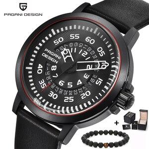 Image 1 - Pagani mens 시계 브랜드 럭셔리 세련된 시계 가죽 스트랩 새로운 다이얼 디자인 회전 달력 밀리터리 쿼츠 시계 남성용