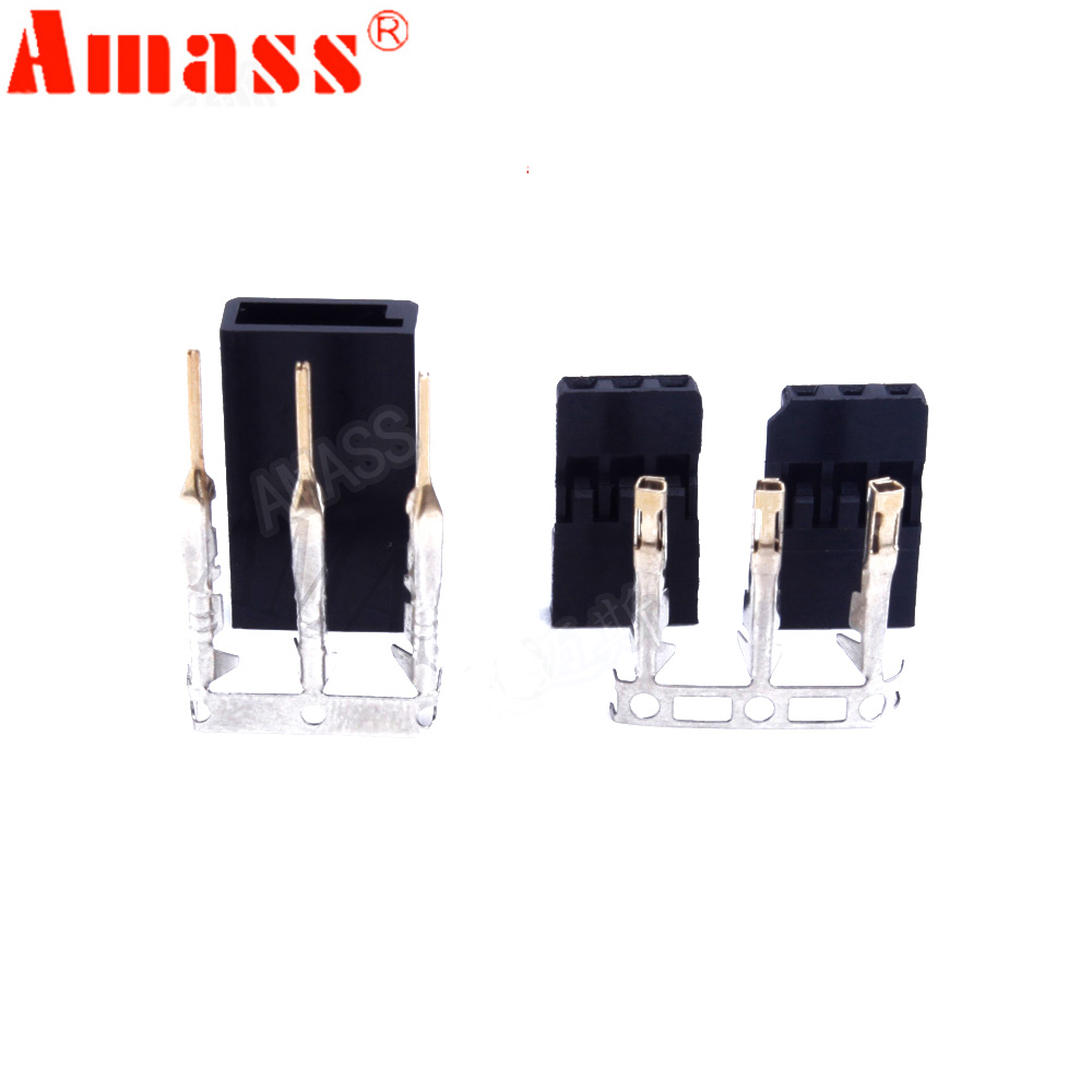 100pair Male/ Female Connector For JR/Futaba For RC Model, Servo Connector, Model Receiver Battery ESC Connection