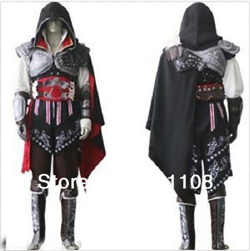 Free Shipping Assassin's Creed Ezio Cosplay Costume Full