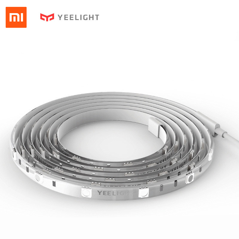 Xiaomi Yeelight Smart LED Lightstrip Wifi APP Color Changing Light Strip Rope Alexa voice control Under Cabinet TV Lighting 2M in stock original xiaomi yeelight smart ceiling light lamp remote app wifi bluetooth control smart led colorfull ip60 dustproof