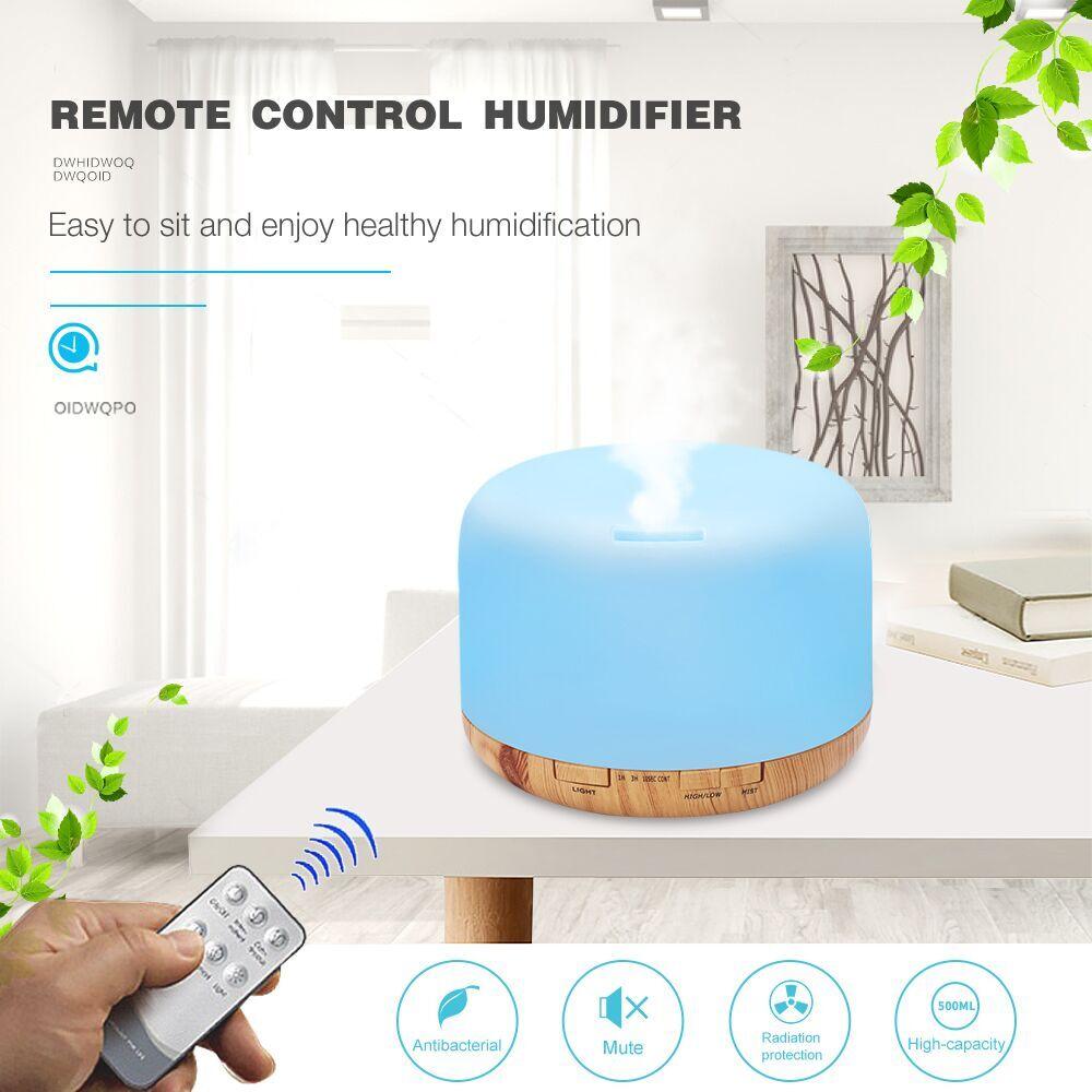 500 мл увлажнитель для домашних офисов ультразвуковой увлажнитель воздуха эфирное масло диффузор лампы ароматерапия Арома диффузор тумана