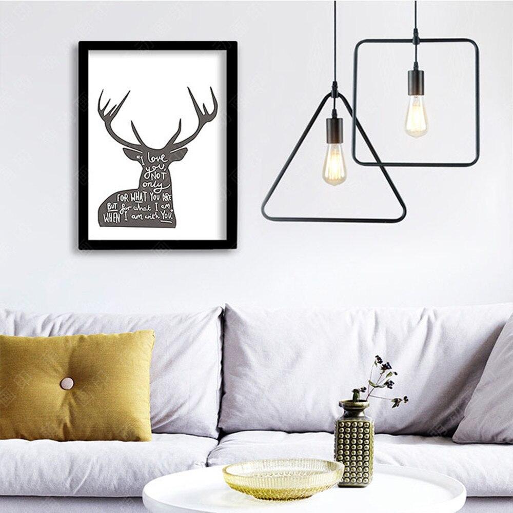 5 type modern black pendant lights iron minimalist retro nordic loft pyramid lamp metal Hanging Lamp