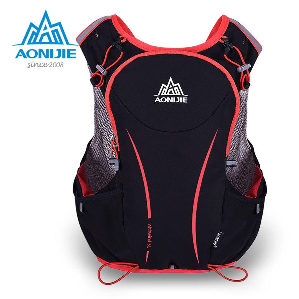 ФОТО AONIJIE 5L Running Backpack Kettle Package Marathon Cycling Bags Running Vest Kettle Sport Bag Waterproof Nylon Bag