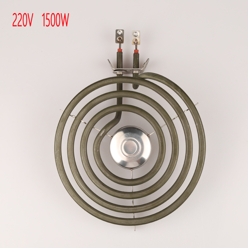 220V 1500W  4 coils heating element with whirlpool  for stove surface burner,mosquito oblate heater tube with tripod 2 5 coils stainless steel 304 food grade liquid heating element for 20 50 l brewery sparkling wine equipment tubular element