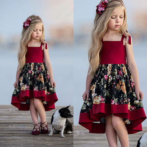 New Style Pudcoco Brand Kid Girl Floral Dress Formal Princess Girl Wedding Party  Dress Children Girl bac920d770f6