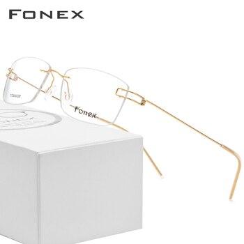 4a9fd6380b Gafas sin tornillos Marco de gafas coreanas para hombres 2018 gafas de  titanio con prescripción ultraligera para mujeres monturas ópticas sin  montura de ...