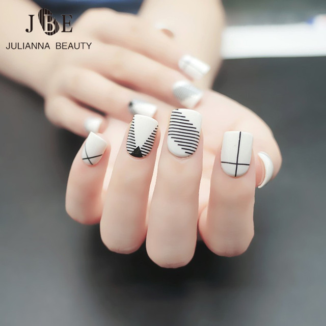 24pcs Fashion Fake Nail Tips For Child Pre Designed Kid ...