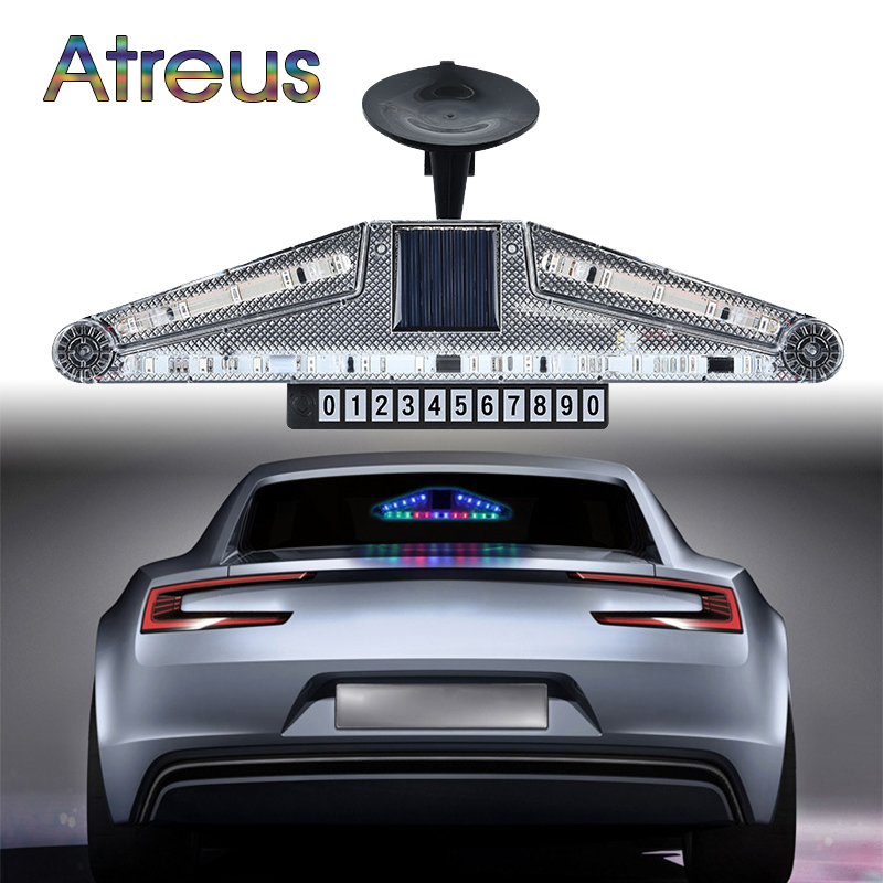 Atreus Car LED Strobe Lights For Audi a4 b6 a3 BMW e46 e90 Lexus lx470 accessories Parking number warning lamp with Solar energy