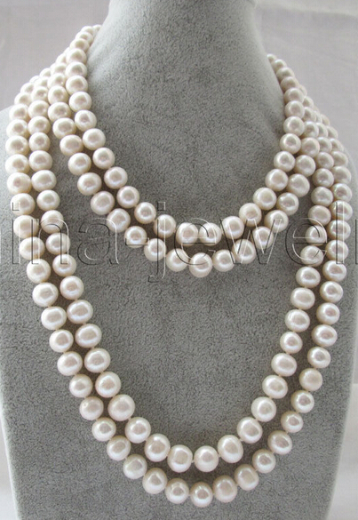 Wholesale free shipping 100% Natural jewelry >>Beautiful 80 10mm natural white round freshwater pearl necklace 500g natural organic moringa leaf pow der green pow der 80 mesh free shipping