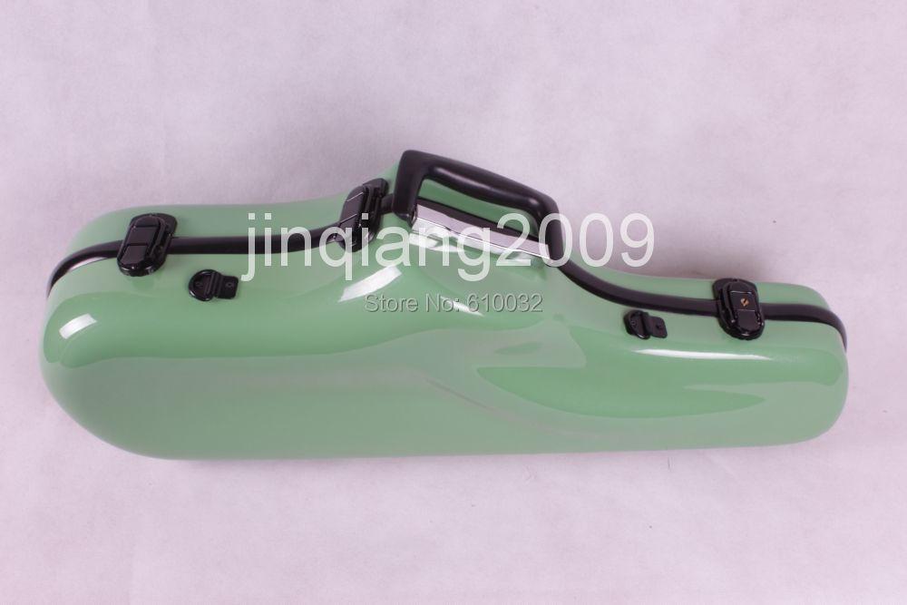 Alto saxophone Glass Fiber case Light Durable Lock Blue New # green color alto saxophone glass fiber case light durable lock blue new white color