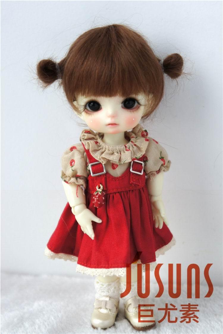 JD415 1/8 1/6 1/4 luštna dva ponija BJD mahair lasulje velikost 5-6inch 6-7 palčni 7-8inch lutka las modni dodatki za punčke