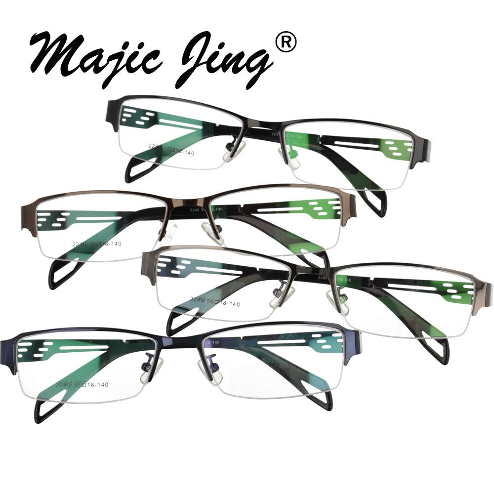 Magic Jing Metal Eyeglasses Frames For Men RX Optical Frames Prescription Spectacles 2240