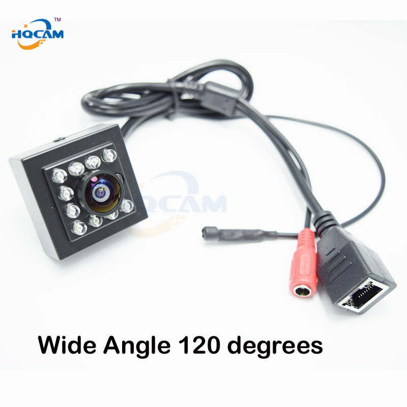 Hqcam 1080 P Аудио Мини ИК Камера 10 шт. <font><b>940nm</b></font> ИК светодиодов инфракрасного Cam ночного видения ONVIF Мини ИК ip камера, p2P IP Камера ght ИК-