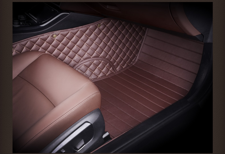 Myfmat new car floor mats leather rugs foot pad for Alfa Romeo Boxster Cayenne cayman Bentley Arnage Flying Spur GT double layer in Floor Mats from Automobiles Motorcycles
