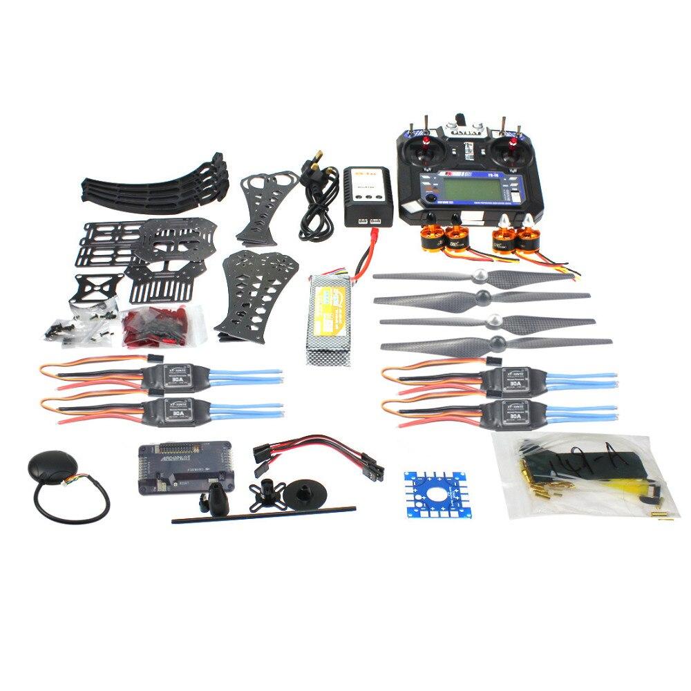 F14892-B BRICOLAGE RC Drone Quadricoptère X4M360L Kit de Cadre avec GPS APM 2.8 RX TX Batterie et Adaptateur Chargeur RTF 4 axes Avion Jouet