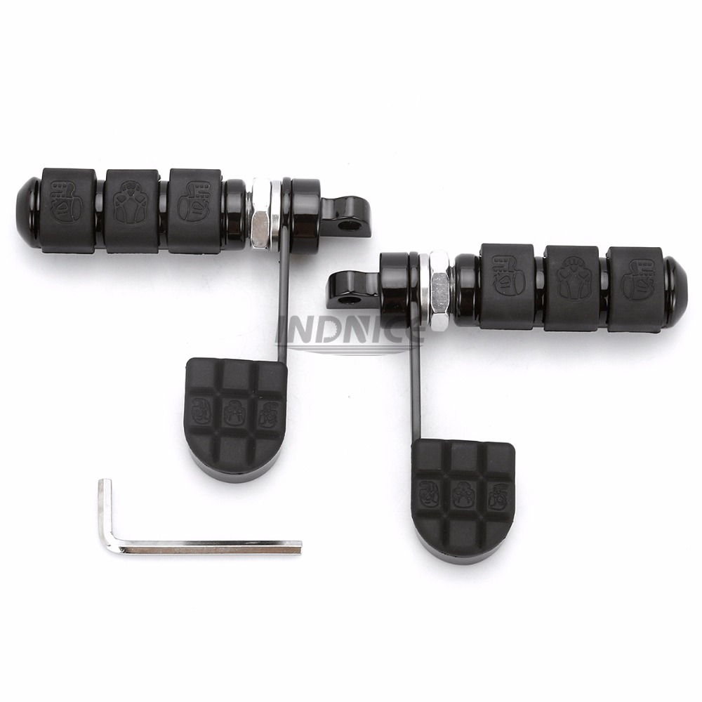 Foot Rests Helpful Skull Male Mount-style Foot Pegs Footrest For Harley Dyna Super Glide Sport Fxdx Frames & Fittings
