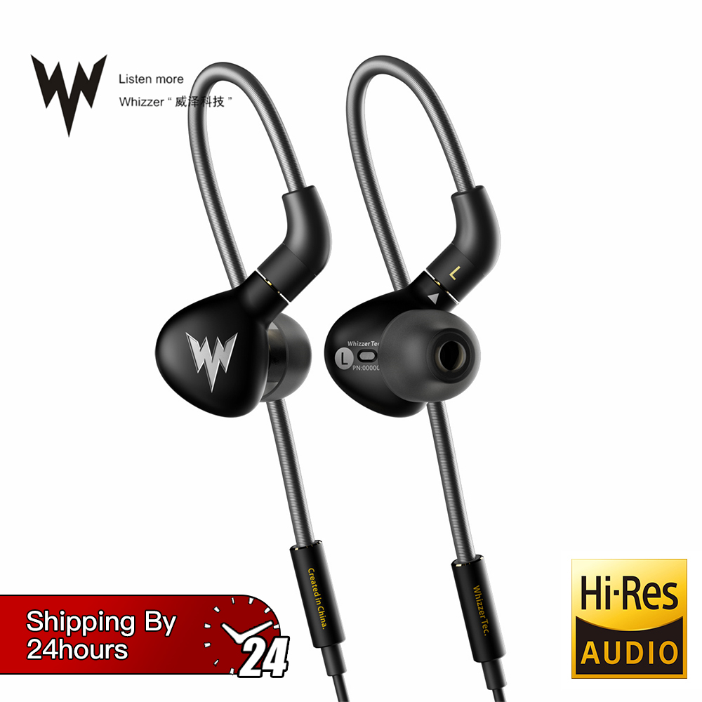 Whizzer A15 Pro HiFi basse écouteurs métal dans l'oreille casques dynamique hi-res écouteurs avec connecteur MMCX 3.5mm Sport basse écouteurs