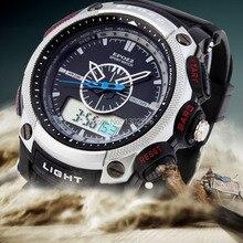 De alta calidad de Los Hombres Deportes relojes LED digital Resistente Al Agua Reloj Día Fecha display de Cuarzo Militar top marca Relojes de lujo