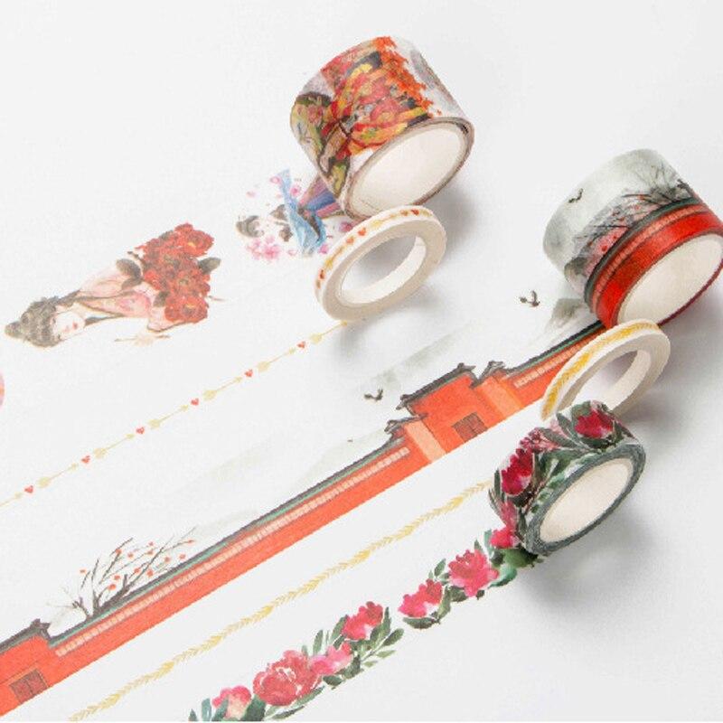 Infeel Yong Girl washi tape DIY decorative scrapbooking planner masking label sticker stationery school supplies блуза jacqueline de yong jacqueline de yong ja908ewujb68