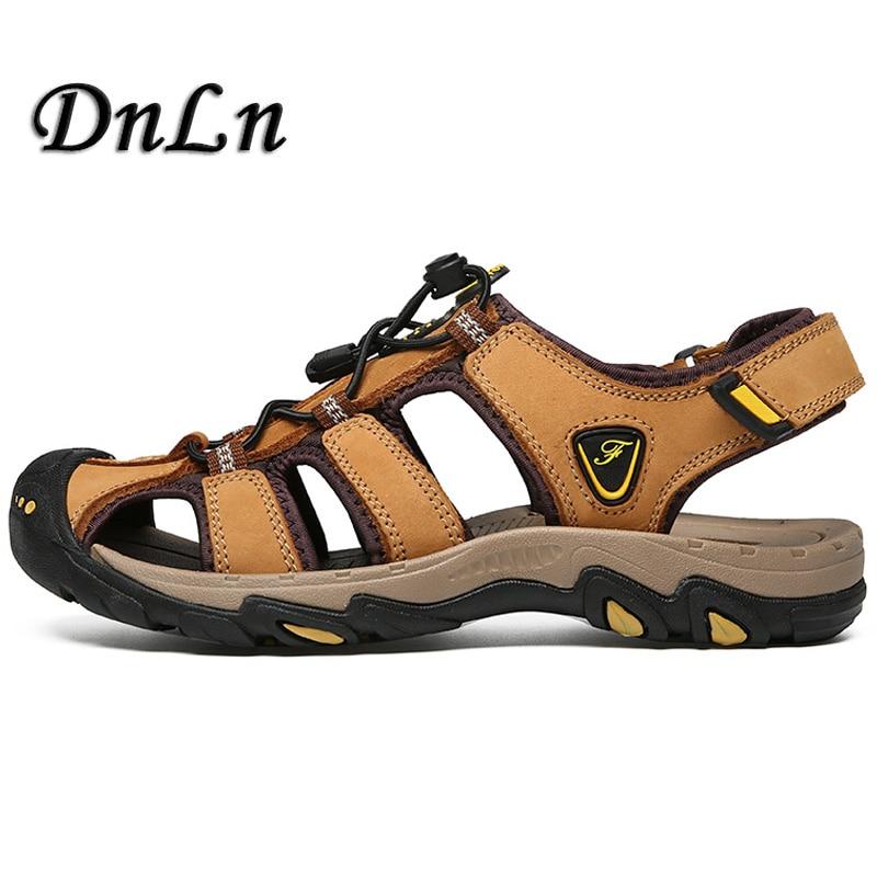 Classic Men Sandals Comfortable Men Summer Shoes 2018 Leather Sandals Men