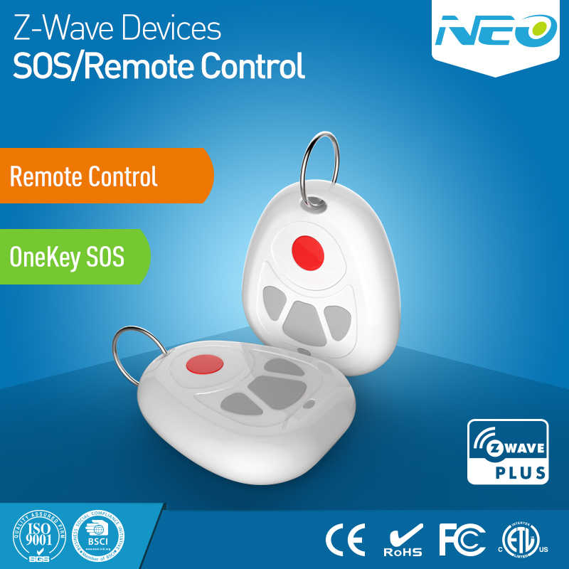 NEO COOLCAM Z-wave Plus Smart Home One Key SOS and Remote Control Sensor Smart Home Automation Sensor