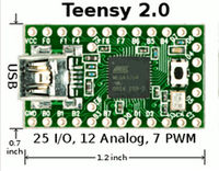 Teensy 2 0 USB Development Board AVR MKII ISP Download Cable AT90USB162