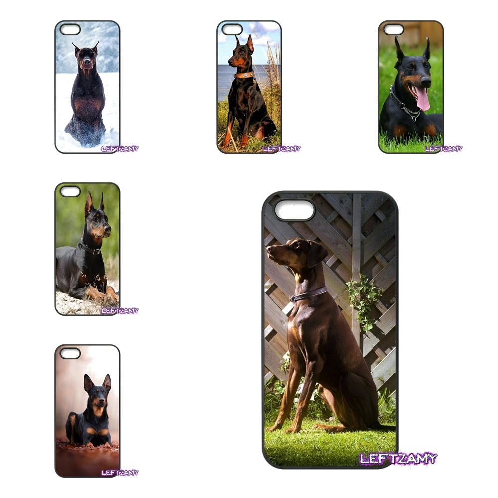 Doberman Dog Tongue Face Hard Phone Case Cover For iPhone 4 4S 5 5C SE 6 6S 7 8 Plus X 4.7 5.5 iPod Touch 4 5 6