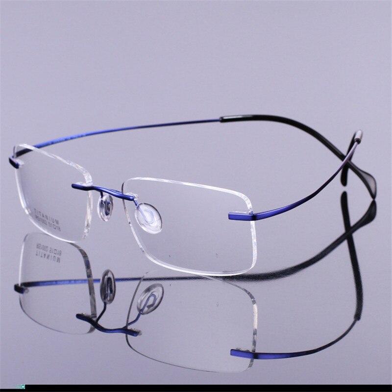 Vazrobe Titan Brillen Männer Frauen Ultra Licht Mann Randlose Brille Optic Brillen Multifokale Progressive Frau Kunden Zuerst Bekleidung Zubehör