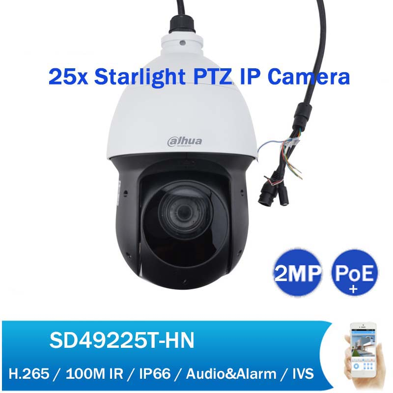 original dahua dh sd32203s hn 2 megapixel full hd network mini ptz dome camera sd32203s hn DH SD49225T-HN 2MP Starlight PTZ PoE Network Camera 25x Zoom 100M IR Full HD Security CCTV IP Camera with Power Adapter