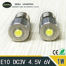 Best price E10 1W 6V 3V LED For Focus Flashlight Replacement Bulb Torches Emergency Work Light Pure cold White
