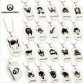 New Arrival Overwatch Pendant Necklace GAME All Heroes Log Tracer Reaper Widowmaker Hanzo Metal OW Necklaces Jewelry