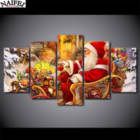 5pcs Diamond Embroidery Santa Claus Christmas Gift 5d Diamond Painting Full Diamond Mosaic Pictures Of Rhinestones