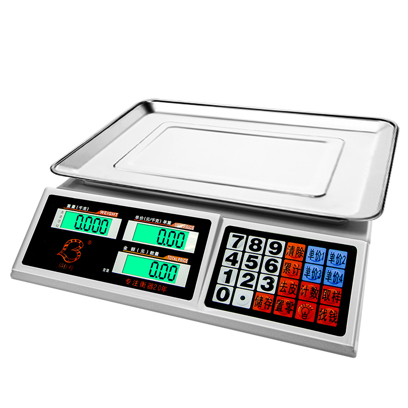 30kg Electronic Digital Scales 0.1g Platform Pricing Scales Weighting Kitchen Fruit Food Material Precision Electronic Scales 5kg 5000g 1g digital scale kitchen food diet postal scale electronic weight scales balance weighting tool led electronic wh b05