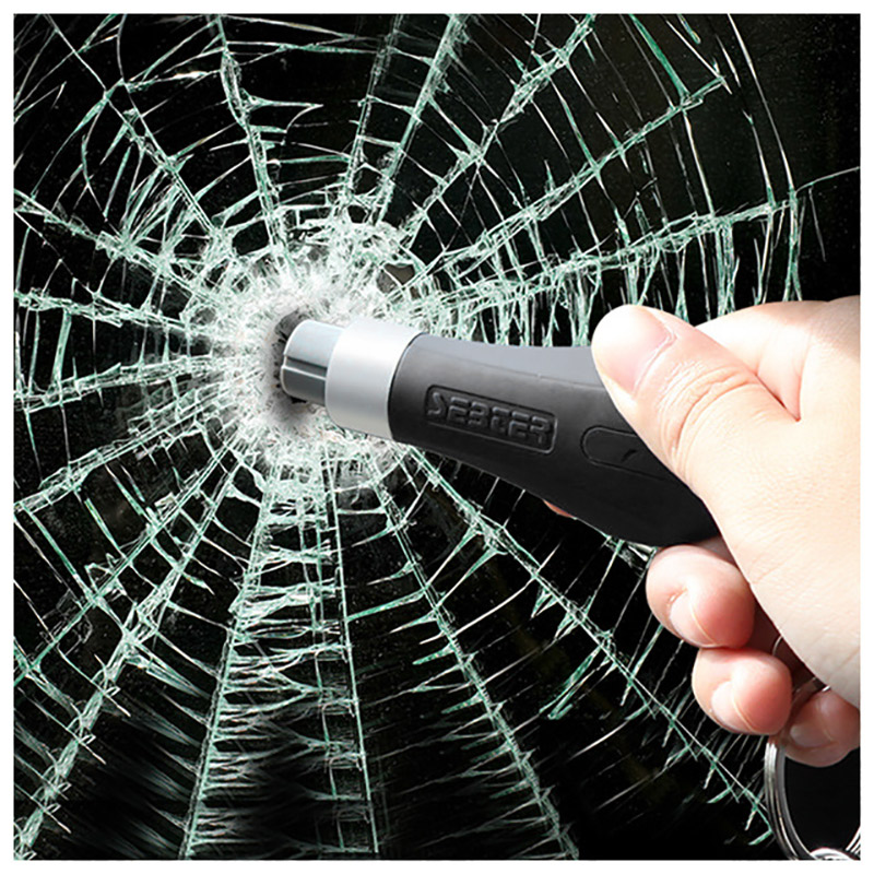 Emergency Hammer Mini Safety Hammer Key Ring Car Window Glass Breaker Seat Belt Cutter Rescue Hammer Car Escape Tool