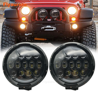 7 105W Vehicel Headlights White Light Bar 7inch Vehicle Work Light LED DRL Truck For SUV Offroad Boat Car Tractor Truck 4x4