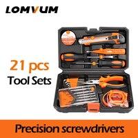 LOMVUM 21Pcs Tools Hand Tools Household Multifunction Hardware Tool Disassembling Repair Kit Box PortableHand Tool Sets