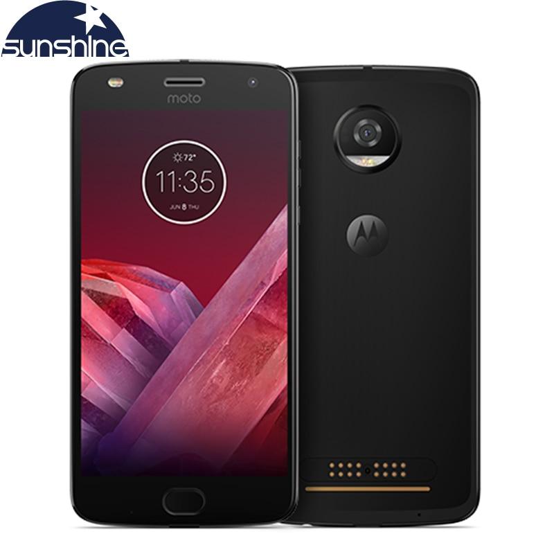 Original Motorola MOTO Z2 PLAY 4G LTE Mobile phone 5.5'' 12.0MP Octa Core 4G RAM 64G ROM Android Dual Sim Smartphone
