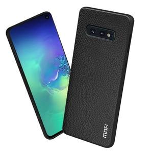Image 2 - Do Samsung Galaxy S10E etui do S10 Lite okładka S10 E obudowa Coque silikonowy PU skórzany tył TPU MOFi oryginalny