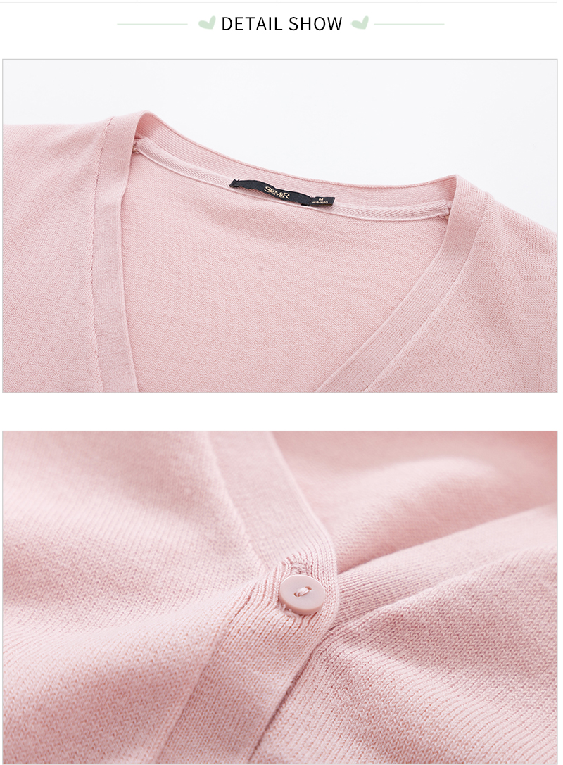 SEMIR Knitted Cardigan sweater Women 19 Spring Simple Solid Straight Bottom Clothing Sweater Fashion Cardigan for Female 13