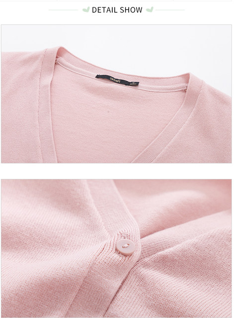 SEMIR Knitted Cardigan sweater Women 2019 Spring Simple Solid Straight Bottom Clothing Sweater Fashion Cardigan for Female 23