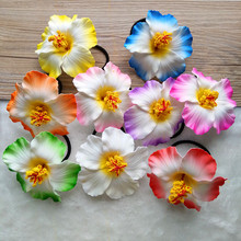 Фотография 10 pcs Hula Girls wedding bride Foam Hawaiian bridal hair clip 9cm you pick flower jewelry hair rope black Frangipani flower