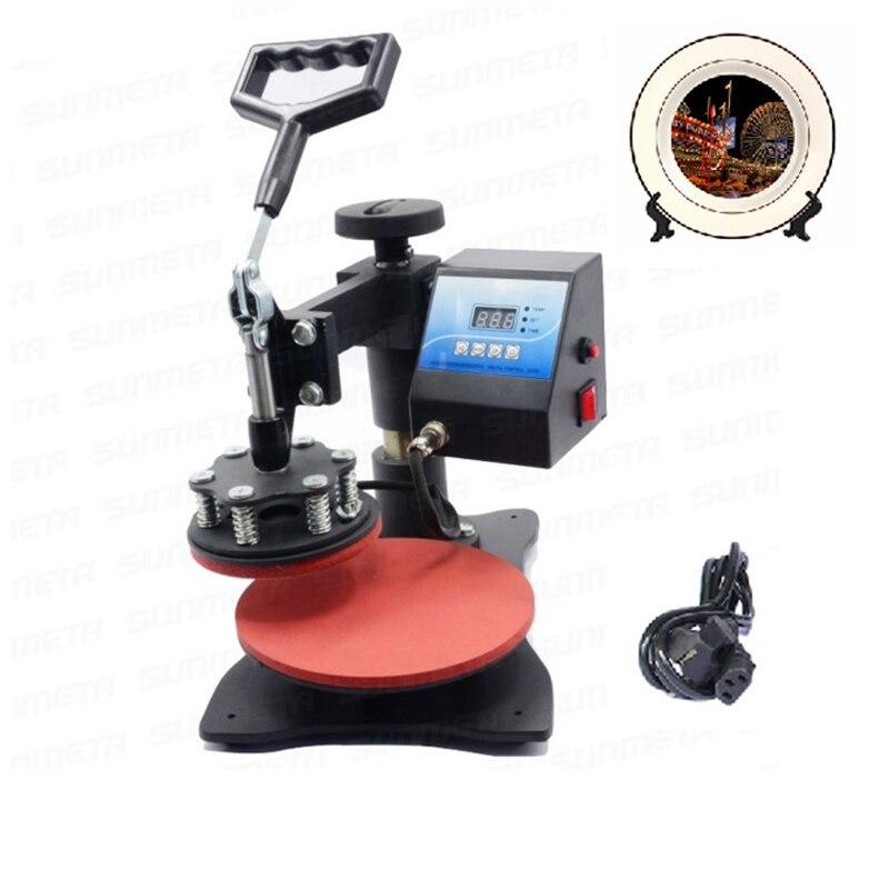 Plate Heat Press Machine Sublimation Printer Digital Swing Away Heat Transfer Plate Machine For 8 Inch Plates 12cm Diameter