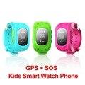 """Q50 gps crianças smart watch chamada sos localizador localizador rastreador relógio de pulso anti perdido monitor de 0.96 """"crianças estudante dispositivo wearable"""