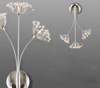 Einfachen nacht warme LED wandleuchte Kristall schlafzimmer wohnzimmer flur beleuchtung löwenzahn lampe Art Deco hochzeit wandlampen