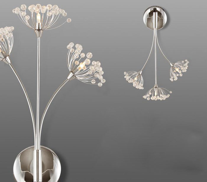 Simple bedside warm LED Wall lamp Crystal bedroom living room hallway lighting dandelion lamp Art Deco wedding sconces contemporary elegant crystal drops wall light living room bedroom bedside lamp mirror hallway light fixtures wall sconces wl194