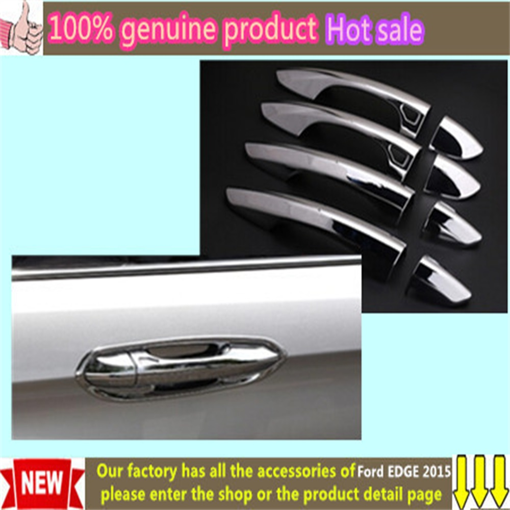 High quality styling cover protection detector trims abs chrome car door handle 4pcs for ford edge 2015