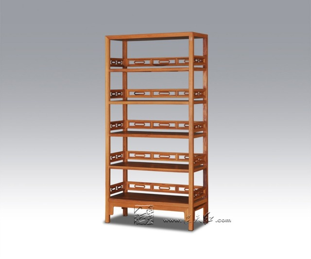 Antique Study Room Bookcase Home Furniture Solid Wood Storage Filing  Magazine Stand Rack Multi Function