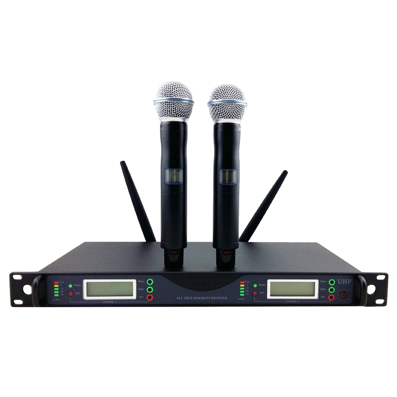 Top Quality for Stage UR24D PLL True Diversity UHF Wireless System With Dual Handheld Wireless Microphone
