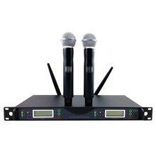 Высокое качество для сцены! UR24D PLL True Diversity UHF беспроводная система с двойным портативным беспроводным микрофоном