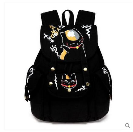 2017 summer new canvas shoulder bag Korean version of the campus backpack men and women backpack 2017 new painted canvas bag shoulder bag korean version of the travel backpack student bag school bag campus